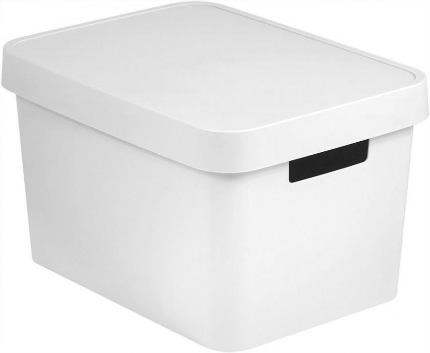 472310be8 Plastové boxy Úložný box plastový s víkem 17L - bílý CURVER | Teramarket